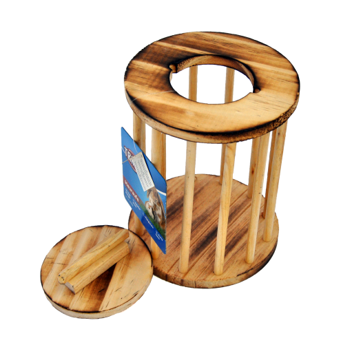 Trixie Heuraufe Holz rund